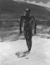 "Eric Fischl (American, born 1948). <em>Etching from ""Year of the Drowned Dog,""</em> 1983. Etching, Composition/ Sheet: 23 1/8 x 19 1/2 in. (58.7 x 49.5 cm). Brooklyn Museum, Carll H. de Silver Fund, 83.224.4. © artist or artist's estate (Photo: Brooklyn Museum, 83.224.4_bw.jpg)"