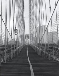Frank Spadarella (American, born 1925). <em>Brooklyn Bridge</em>, 1980. Gelatin silver photograph Brooklyn Museum, Gift of Ida and Frank Spadarella, 83.78.1. © artist or artist's estate (Photo: Brooklyn Museum, 83.78.1_PS1.jpg)