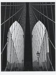 Frank Spadarella (American, born 1925). <em>Brooklyn Bridge Arches</em>, 1980. Gelatin silver photograph Brooklyn Museum, Gift of Ida and Frank Spadarella, 83.78.2. © artist or artist's estate (Photo: Brooklyn Museum, 83.78.2_PS1.jpg)