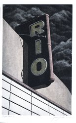James Torlakson (American, born 1951). <em>Rio</em>, 1983. Hand-colored aquatint etching on paper, sheet: 14 1/2 x 9 7/8 in. (36.8 x 25.1 cm). Brooklyn Museum, Gift of Torlakson Fine Art, 83.79. © artist or artist's estate (Photo: Brooklyn Museum, 83.79_SL4.jpg)