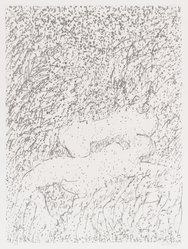 David Kremgold (American, born 1944). <em>The Figure in Landscape</em>, 1984. Lithograph on white wove paper, Sheet: 14 3/8 x 12 1/4 in. (36.5 x 31.1 cm). Brooklyn Museum, Gift of Ronald T. Kraver, 84.228.3. © artist or artist's estate (Photo: Brooklyn Museum, 84.228.3_PS4.jpg)