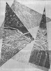 P.F. Christofides. <em>Momentum</em>, 1983. Intaglio, Sheet (image): 20 1/8 x 15 1/16 in. (51.1 x 38.3 cm). Brooklyn Museum, Gift of the Printmaking Workshop in honor of Una E. Johnson, 84.307.3. © artist or artist's estate (Photo: Brooklyn Museum, 84.307.3_bw.jpg)