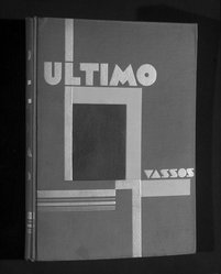 John Vassos and Illustrator (American, born Romania, 1898-1985). <em>Ultimo</em>, ca. 1930. Book, 10 3/8 x 7 3/4 x 1/2 in. (26.4 x 19.7 x 1.3 cm). Brooklyn Museum, H. Randolph Lever Fund, 85.160.1. © artist or artist's estate (Photo: Brooklyn Museum, 85.160.1_bw.jpg)