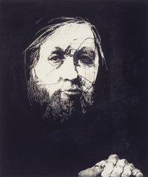 Charles Wells (American, born 1935). <em>Walt Whitman</em>, n.d. Etching on paper, sheet: 26 1/4 x 19 1/4 in. (66.7 x 48.9 cm). Brooklyn Museum, Gift of IBM Gallery of Science and Art, 85.187.50. © artist or artist's estate (Photo: Brooklyn Museum, 85.187.50_transp6205.jpg)