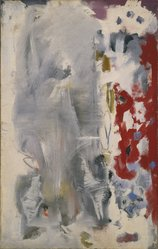 Mark Rothko (American, born Russia, 1903-1970). <em>Untitled</em>, 1947. Oil on canvas, 43 7/8 x 27 3/4 in. (111.4 x 70.5 cm). Brooklyn Museum, Gift of The Mark Rothko Foundation, Inc., 85.289.2. © artist or artist's estate (Photo: Brooklyn Museum, 85.289.2_SL1.jpg)