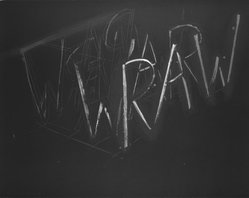 Bruce Nauman (American, born 1941). <em>Raw War</em>, 1971. Lithograph, sheet: 22 1/4 x 28 1/4 in. (56.5 x 71.8 cm). Brooklyn Museum, Purchased with funds given by the Louis Comfort Tiffany Foundation, 85.31. © artist or artist's estate (Photo: Brooklyn Museum, 85.31_bw.jpg)