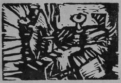 Chuck Connelly (American, born 1955). <em>Untitled</em>, 1983. Linocut printed in black ink Brooklyn Museum, Purchased with funds given by the Louis Comfort Tiffany Foundation, 85.35.2. © artist or artist's estate (Photo: Brooklyn Museum, 85.35.2_bw.jpg)
