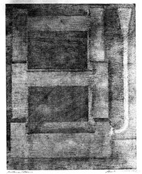 Robert Wilson (American, born 1941). <em>Overture Chair</em>, 1977. Etching on paper, sheet: 27 x 22 1/4 in. (68.6 x 56.5 cm). Brooklyn Museum, Purchased with funds given by the Louis Comfort Tiffany Foundation, 85.43.2. © artist or artist's estate (Photo: Brooklyn Museum, 85.43.2_bw.jpg)