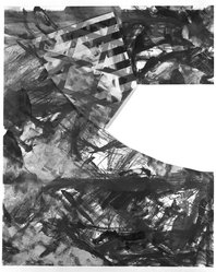 Jay Phillips. <em>Landscape</em>, 1984. Lithograph and monotype on paper, sheet: 29 1/2 x 36 1/2 in. (74.9 x 92.7 cm). Brooklyn Museum, Purchased with funds given by the Louis Comfort Tiffany Foundation, 85.58. © artist or artist's estate (Photo: Brooklyn Museum, 85.58_bw.jpg)