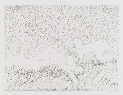 David Kremgold (American, born 1944). <em>The Figure in Landscape</em>, 1984. Lithograph on white wove paper, Sheet: 12 3/8 x 14 5/16 in. (31.5 x 36.4 cm). Brooklyn Museum, Gift of Ronald T. Kraver, 84.228.2. © artist or artist's estate (Photo: Brooklyn Museum, 86.228.2_PS4.jpg)