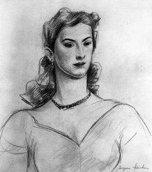 Eugene E. Speicher (American, 1883-1962). <em>Portrait Bust of  Woman</em>, n.d. Graphite on paper, Sheet: 11 13/16 x 10 1/4 in. (30 x 26 cm). Brooklyn Museum, Gift of Aaron Berman, 86.284.1. © artist or artist's estate (Photo: Brooklyn Museum, 86.284.1_bw.jpg)