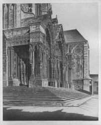 John Taylor Arms (American, 1887-1953). <em>North Part of Chartres Cathedral</em>, 1939. Etching Brooklyn Museum, Bequest of Louise Seaman Bechtel, 86.38.10. © artist or artist's estate (Photo: Brooklyn Museum, 86.38.10_bw.jpg)