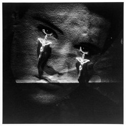 Bruce Cratsley (American, 1944-1998). <em>Elvis Teardrops, N.Y.C., 1985</em>, 1985. Selenium-toned gelatin silver photograph, sheet: 9 1/4 x 9 1/4 in. (23.5 x 23.5 cm). Brooklyn Museum, Gift of the artist, 86.96.2. © artist or artist's estate (Photo: Brooklyn Museum, 86.96.2_bw.jpg)