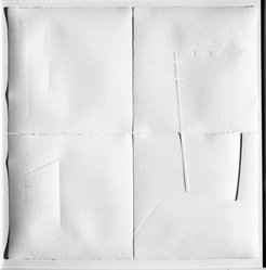 Kendra Ferguson (American, born 1946). <em>The Stop Before Mariefred</em>, 1987. Graphite and collage on paper, each sheet: 9 x 9 in. (22.9 x 22.9 cm). Brooklyn Museum, Gift of Elizabeth Ballantine, 87.142. © artist or artist's estate (Photo: Brooklyn Museum, 87.142_bw.jpg)