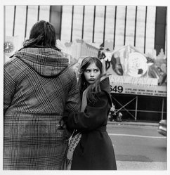 Roy Colmer (American, born 1935). <em>Mother and Daughter, Herald Square 1984</em>, 1984. Gelatin silver photograph, image: 15 x 15 in. (38.1 x 38.1 cm). Brooklyn Museum, Gift of the artist, 87.148. © artist or artist's estate (Photo: Brooklyn Museum, 87.148_bw.jpg)