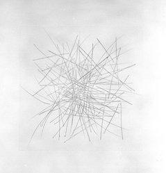 Edda Renouf (American, born Mexico, 1943). <em>4</em>, 1979. Soft-ground, hard-ground, and sugar lift, sheet: 20 x 21 in. (50.8 x 53.3 cm). Brooklyn Museum, Gift of Parasol Press in honor of Henry Welt, 87.158.4. © artist or artist's estate (Photo: Brooklyn Museum, 87.158.4_bw.jpg)