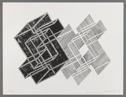Murata Hiroshi (Japanese). <em>Untitled</em>, 1987. Off-set lithograph on vellum, sheet: 9 13/16 x 12 3/4 in. (24.9 x 32.4 cm). Brooklyn Museum, Purchased with funds given by Henry and Cheryl Welt, 87.161.28. © artist or artist's estate (Photo: Brooklyn Museum, 87.161.28_IMLS_PS3.jpg)