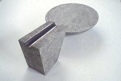 James L. Ford. <em>Basin and Channel</em>, 1987. Cast terrazzo, lead and copper, Basin: 6 x 8 in. (15.2 x 20.3 cm). Brooklyn Museum, Frank L. Babbott Fund, 87.195a-b. © artist or artist's estate (Photo: Brooklyn Museum, 87.195a-b_slide_SL3.jpg)