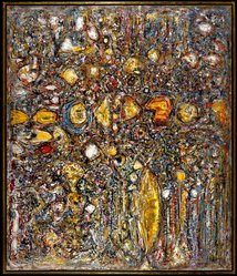 Richard Pousette-Dart (American, 1916-1992). <em>Amaranth</em>, 1958. Oil on canvas, Historic dimensions: 75 3/4 x 64 3/4 in. (192.4 x 164.5 cm). Brooklyn Museum, Gift of Dr. and Mrs. Arthur E. Kahn, 87.239. © artist or artist's estate (Photo: Brooklyn Museum, 87.239_SL1.jpg)