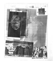 Robert Rauschenberg (American, 1925-2008). <em>Paris Review (poster)</em>, 1965. Off-set lithograph on paper, sheet: 25 1/4 x 21 in. (64.1 x 53.3 cm). Brooklyn Museum, Gift of Mr. and Mrs. Robert T. Buck, 87.241. © artist or artist's estate (Photo: Brooklyn Museum, 87.241_bw.jpg)