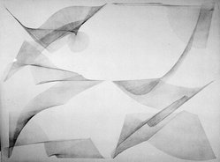 Blythe Bohnen (American, born 1940). <em>Untitled Drawing</em>, 1973. Graphite on paper, 45 x 35 in. (114.3 x 88.9 cm). Brooklyn Museum, Gift of Alan Sonfist, 87.250.4. © artist or artist's estate (Photo: Brooklyn Museum, 87.250.4_bw.jpg)