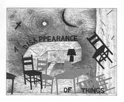 Terry Allen (American, born 1943). <em>A Disappearance of Things</em>, 1986. Hard and soft ground aquatint on paper, Sheet: 22 1/8 x 26 7/8 in. (56.2 x 68.2 cm). Brooklyn Museum, Gift of Lawrence and Carol Zicklin, 87.251.1. © artist or artist's estate (Photo: Brooklyn Museum, 87.251.1_bw.jpg)