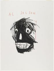 Jean-Michel Basquiat (American, 1960-1988). <em>Al Jolson</em>, 1981. Oilstick and felt-tip pen ink on paper, sheet: 24 x 18 in. (61 x 45.7 cm). Brooklyn Museum, Gift of Estelle Schwartz, 87.47. © artist or artist's estate (Photo: Brooklyn Museum, 87.47_PS4.jpg)