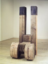Chris MacDonald (American, born 1952). <em>Tower Piece II</em>, 1985. Wood, paint and hardware, a-b each: 83 1/2 x 9 1/2 x 9 3/4 in. (212.1 x 24.1 x 24.8 cm). Brooklyn Museum, Purchased with funds given by Mr. and Mrs. Rudolph B. Schulhof, 88.120a-h. © artist or artist's estate (Photo: Brooklyn Museum, 88.120.jpg)