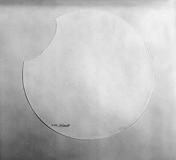 Sol LeWitt (American, 1928-2007). <em>Torn Paper Piece R. 519</em>, ca. 1975. White textured paper, diameter: 12 1/2 in. Brooklyn Museum, Gift of Estelle Schwartz, 88.134.2. © artist or artist's estate (Photo: Brooklyn Museum, 88.134.2_bw.jpg)
