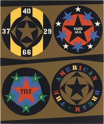 Robert Indiana (American, 1928-2018). <em>1960:  The American Dream I</em>, 1971. Serigraph, Sheet: 39 x 32 in. (99.1 x 81.3 cm). Brooklyn Museum, Anonymous gift, 88.170.11. © artist or artist's estate (Photo: Brooklyn Museum, 88.170.11_PS9.jpg)