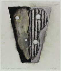Carolanna Parlato (American, born 1961). <em>Study for Moon Mirror</em>, 1987. Ink, gouache, pastel, and graphite on paper, 18 x 15 7/8 in. (45.7 x 40.3 cm). Brooklyn Museum, Gift of Mitchell C. Cohen, 88.29. © artist or artist's estate (Photo: Brooklyn Museum, 88.29_PS1.jpg)