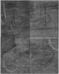 Jill Giegerich (American, born 1951). <em>Untitled</em>, 1987. Graphite, charcoal, and encaustic on plywood, 22 x 18 in. (55.9 x 45.7 cm). Brooklyn Museum, Caroline A.L. Pratt Fund, 88.40. © artist or artist's estate (Photo: Brooklyn Museum, 88.40.jpg)