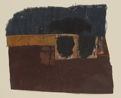 Hannelore Baron (American, 1926-1987). <em>Untitled</em>, 1987. Ink, watercolor, graphite fabric and paper, 8 1/8 × 9 5/16 in. (20.6 × 23.7 cm). Brooklyn Museum, Gift of the Estate of Hannelore Baron, 88.43.4. © artist or artist's estate (Photo: Brooklyn Museum, 88.43.4_PS9.jpg)