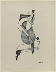 Paul Kelpe (American, born Germany, 1902-1985). <em>[Untitled]</em>, 1937. Off-set lithograph on off-white wove paper, sheet: 11 15/16 x 9 3/16 in. (30.4 x 23.3 cm). Brooklyn Museum, Purchased with funds given by an anonymous donor, 88.54.15. © artist or artist's estate (Photo: Brooklyn Museum, 88.54.15_PS6.jpg)