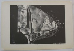Mark Freeman (American, 1908-1975). <em>Second Avenue El</em>, 1933. Lithograph on wove paper, Sheet: 12 3/4 x 18 5/8 in. (32.4 x 47.3 cm). Brooklyn Museum, Frederick Loeser Fund, 1989.41. © artist or artist's estate (Photo: Brooklyn Museum, CUR.1989.41.jpg)