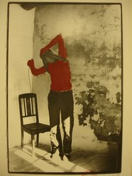 Kaspar Thomas Linder (Swiss, born 1951). <em>August 1, 1984</em>, 1984. Gelatin silver photograph with applied red paint, Sheet: 15 x 10 1/4 in. Brooklyn Museum, Gift of Marcuse Pfeifer, 1990.119.105. © artist or artist's estate (Photo: Brooklyn Museum, CUR.1990.119.105.jpg)