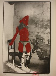 Kaspar Thomas Linder (Swiss, born 1951). <em>August 1, 1984</em>, 1984. Gelatin silver photograph with applied red paint, Sheet: 15 x 10 1/4 in. Brooklyn Museum, Gift of Marcuse Pfeifer, 1990.119.106. © artist or artist's estate (Photo: Brooklyn Museum, CUR.1990.119.106.jpg)