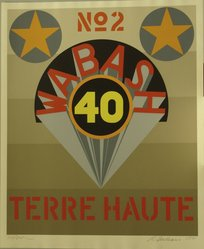 Robert Indiana (American, 1928-2018). <em>1969: Terre Haute No. 2</em>, 1971. Serigraph, Sheet: 39 x 32 in. (99.1 x 81.3 cm). Brooklyn Museum, Anonymous gift, 1990.209.3. © artist or artist's estate (Photo: Brooklyn Museum, CUR.1990.209.3.jpg)