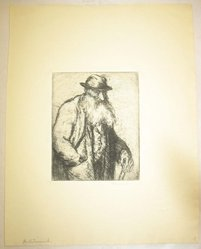 George Renouard (American, 1855-1954). <em>The Patriarch</em>, n.d. Etching on wove paper, sheet: 11 1/8 x 8 11/16 in. (28.3 x 22.1 cm). Brooklyn Museum, Gift of Gertrude W. Dennis, 1991.153.23. © artist or artist's estate (Photo: Brooklyn Museum, CUR.1991.153.23.jpg)