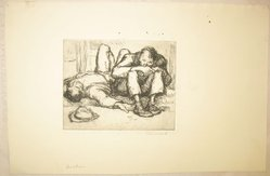 George Renouard (American, 1855-1954). <em>Drinkers</em>, n.d. Etching on wove paper, Sheet: 7 5/8 x 11 11/16 in. (19.4 x 29.7 cm). Brooklyn Museum, Gift of Gertrude W. Dennis, 1991.153.24. © artist or artist's estate (Photo: Brooklyn Museum, CUR.1991.153.24.jpg)