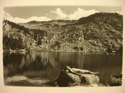 Fiona Veronese Pechukas (American, 1973-1990). <em>Wind River Mountains Sunbath</em>, 1990. Gelatin silver photograph, sheet: 8 × 10 in. (20.3 × 25.4 cm). Brooklyn Museum, Gift of Diana Gisolfi, 1992.63.4. © artist or artist's estate (Photo: Brooklyn Museum, CUR.1992.63.4.jpg)
