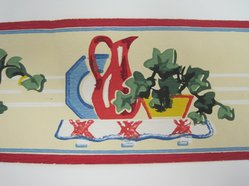 "Trimz Company, Inc.. <em>'Border Paper, ""China Shelf"", Pattern 2058'</em>, ca. 1950. Printed paper, height: 3 in. (7.6 cm). Brooklyn Museum, Gift of Kevin L. Stayton, 1992.97.1. © artist or artist's estate (Photo: Brooklyn Museum, CUR.1992.97.1_detail2.jpg)"