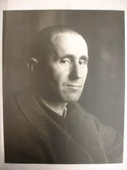 Joseph Breitenbach (American, 1896-1984). <em>Bertolt Brecht, Paris, 1938</em>, ca. 1968. Toned gelatin silver photograph, image/sheet: 13 7/8 x 11 in. (35.2 x 27.9 cm). Brooklyn Museum, Gift of Peter C. Jones, 1995.165.3. © artist or artist's estate (Photo: Brooklyn Museum, CUR.1995.165.3.jpg)