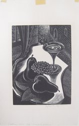 John P. Heins (American, 1896-1969). <em>Venetian Still Life</em>, n.d. Wood engraving on wove paper, Sheet: 9 11/16 x 6 1/4 in. (24.6 x 15.9 cm). Brooklyn Museum, Gift of Julian and Elaine Hyman, 1995.34.2. © artist or artist's estate (Photo: Brooklyn Museum, CUR.1995.34.2.jpg)