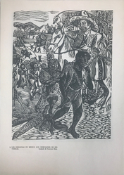 Taller de Gráfica Popular (founded Mexico City, 1937). <em>Los Indigenas De Mexico Son Despojados De Sus Tierras</em>, 1947. Relief print on paper, sheet: 15 13/16 x 10 11/16 in. (40.2 x 27.1 cm). Brooklyn Museum, Emily Winthrop Miles Fund, 1996.152.1. © artist or artist's estate (Photo: , CUR.1996.152.1.jpg)