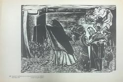 Taller de Gráfica Popular (founded Mexico City, 1937). <em>Prision Y Muerte De Los Descontentos En El Norte Del Pais. 1909.</em>, 1947. Relief print on paper, sheet: 10 11/16 x 15 13/16 in. (27.1 x 40.2 cm). Brooklyn Museum, Emily Winthrop Miles Fund, 1996.152.8. © artist or artist's estate (Photo: , CUR.1996.152.8.jpg)