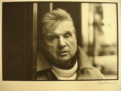 Jesse Fernandez (Cuban, 1925-1986). <em>Francis Bacon</em>, 1979. Gelatin silver photograph, image: 7 1/2 x 11 in. (19.1 x 27.9 cm). Brooklyn Museum, Gift of Everett Aison, 1996.163. © artist or artist's estate (Photo: Brooklyn Museum, CUR.1996.163.jpg)