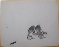 James Brooks (American, 1906-1992). <em>[Untitled] (View of Soles)</em>, n.d. Ink and pastel (?) on paper, Sheet: 18 13/16 x 23 15/16 in. (47.8 x 60.8 cm). Brooklyn Museum, Gift of Charlotte Park Brooks in memory of her husband, James David Brooks, 1996.54.227. © artist or artist's estate (Photo: Brooklyn Museum, CUR.1996.54.227.jpg)