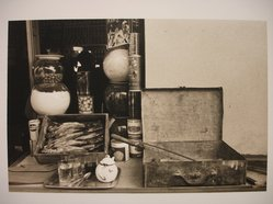 Zeva Oelbaum (American, born 1955). <em>Still Life, Alexandria, Egypt</em>, 1975. Sepia-toned photograph, sheet: 14 x 11 in. (35.6 x 27.9 cm). Brooklyn Museum, Gift of Jane M. Azia and Robert F. Quaintance, Jr., 1997.131.3. © artist or artist's estate (Photo: Brooklyn Museum, CUR.1997.131.3.jpg)