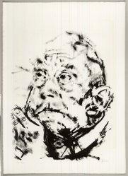 Jack Levine (American, 1915-2010). <em>Requiem</em>, 1979. Lithograph, Image: 31 3/4 x 25 1/2 in. (80.6 x 64.8 cm). Brooklyn Museum, Gift of Peter R. Blum, 1998.191.1. © artist or artist's estate (Photo: Brooklyn Museum, CUR.1998.191.1.jpg)